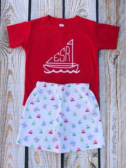 Monogram Boat shorts
