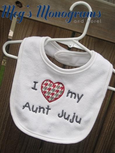 I love my Aunt, Uncle, Grandma, Grandpa, etc. bib