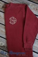 Crimson Monogrammed Comfort Colors Sweatshirt