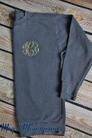 Denim Monogrammed Comfort Colors Sweatshirt