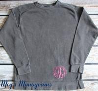 Pepper Monogrammed Comfort Colors Sweatshirt