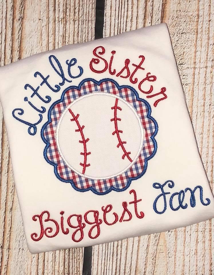 Little Sister Biggest Fan Shirt