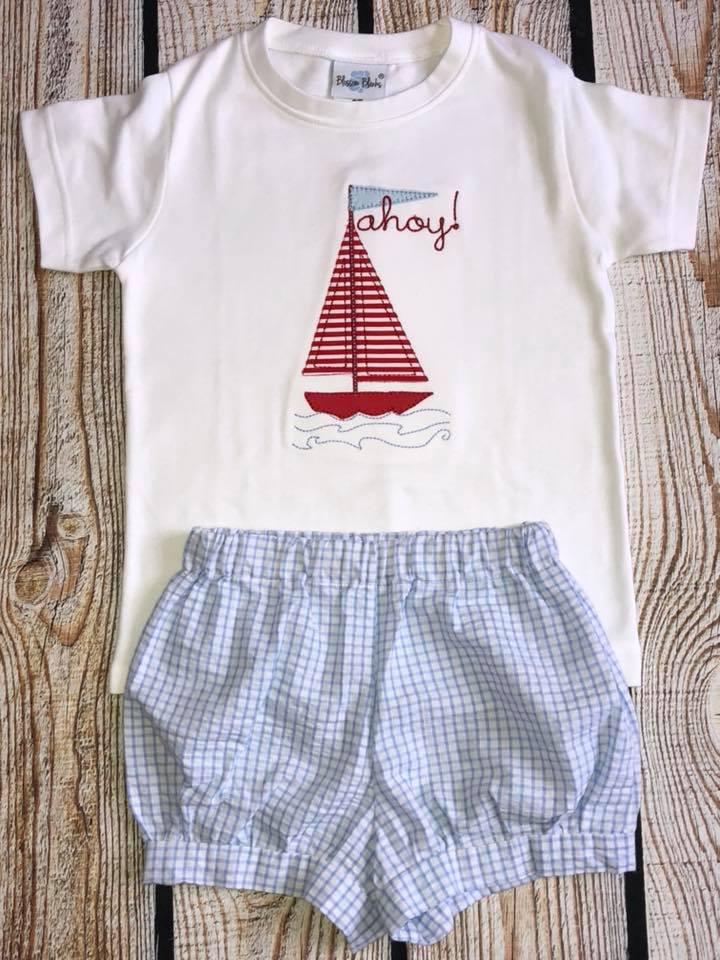 Sailboat Ahoy Applique Shirt