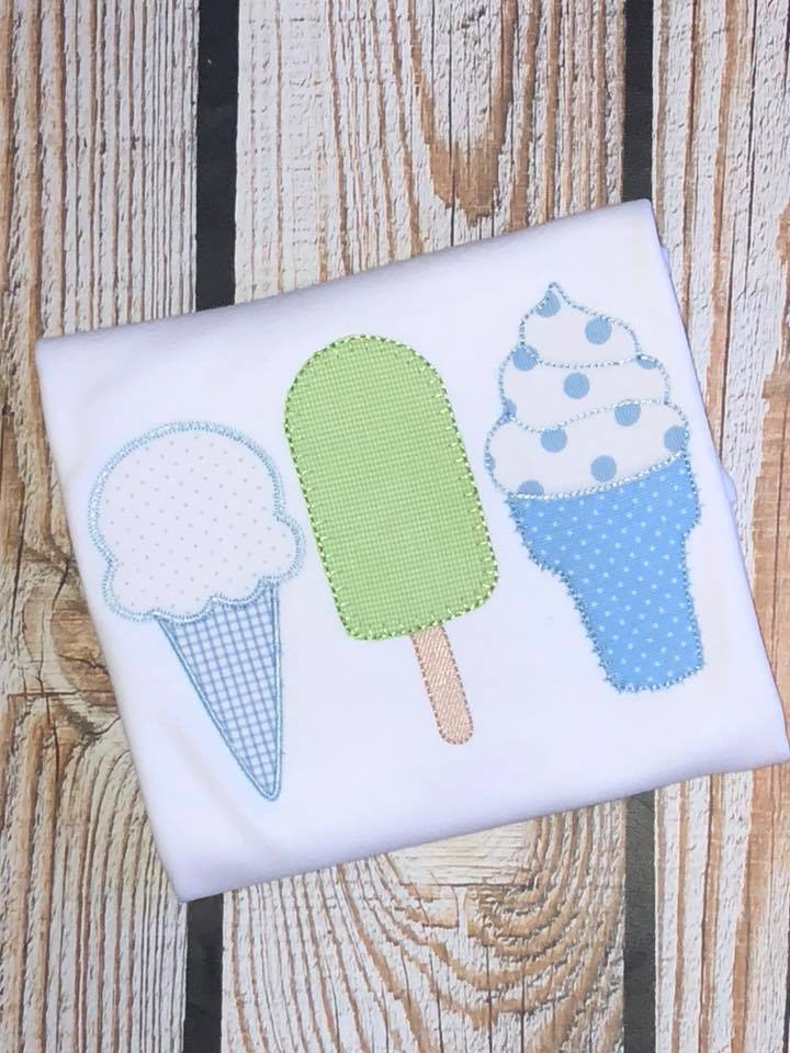 Boys Ice Cream Applique