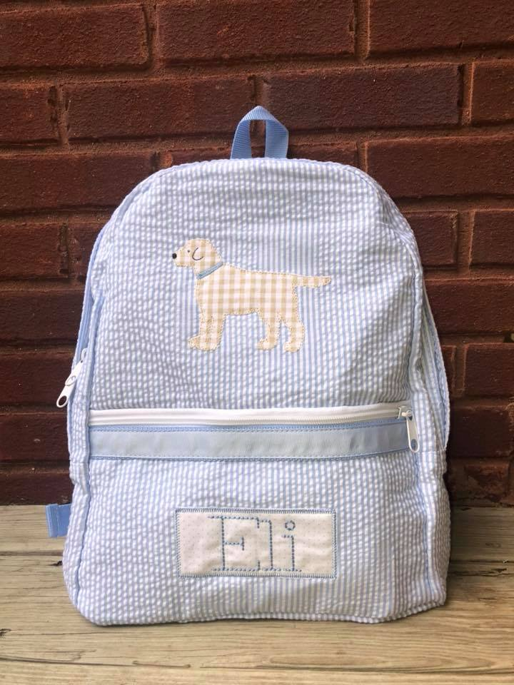 Oh Mint Back pack with Dog Applique and Name 13480c4a0adbc