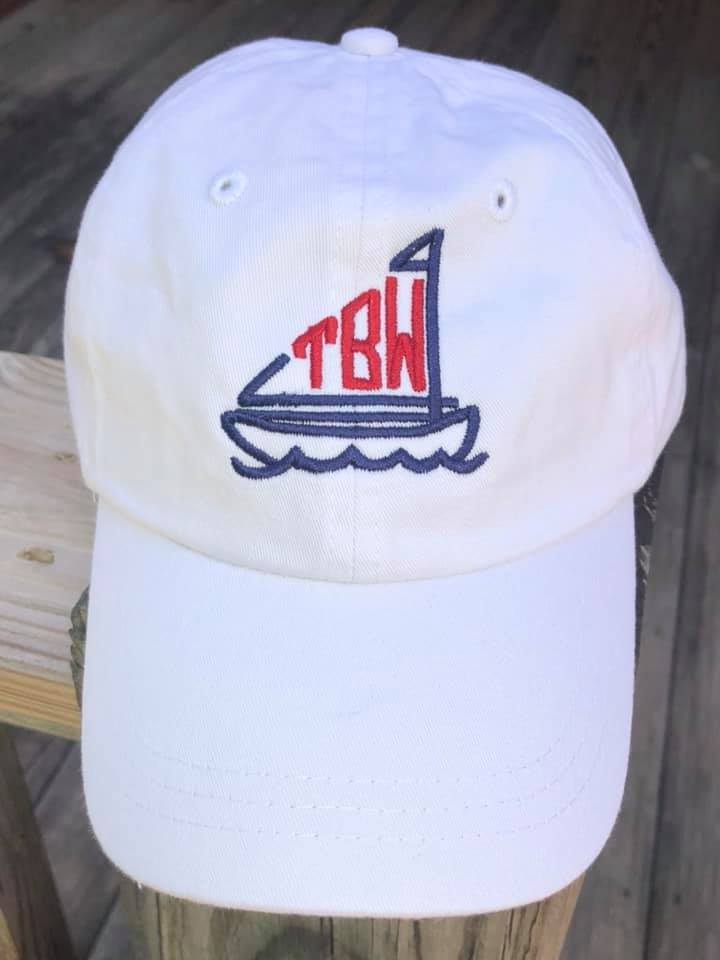 Toddler Sailboat Monogram Hat