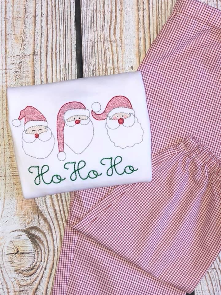 Santa sketch Ho Ho Ho shirt