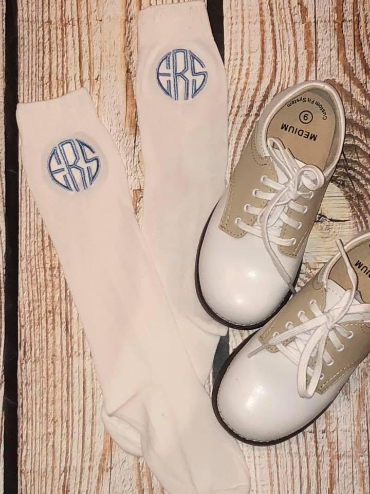 Monogrammed Knee High Socks