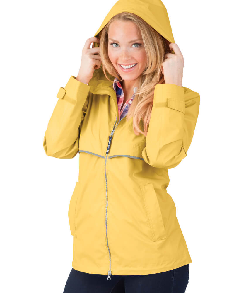 Yellow Charles River Rain Jacket