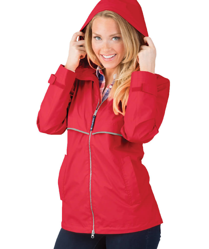 Red Charles River Rain Jacket
