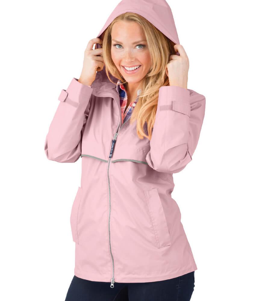 Light Pink Charles River Rain Jacket