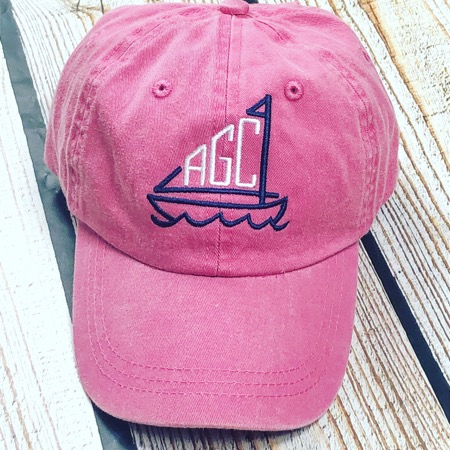 Embroidered Sailboat Toddler Hat