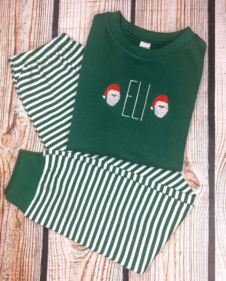 Christmas Pajama Set Monogrammed