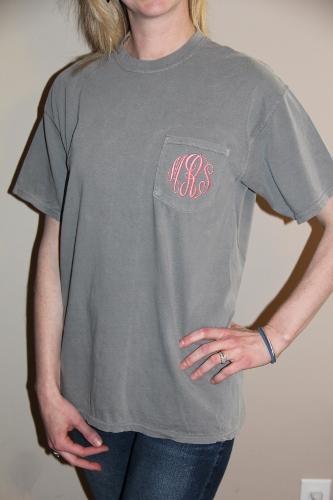 Monogrammed Comfort Colors Short Sleeve Shirt
