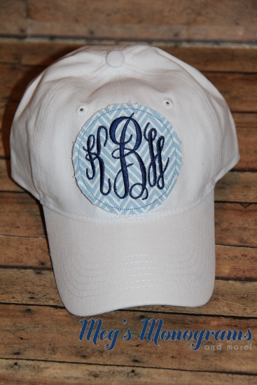 White Monogrammed Patch Hat
