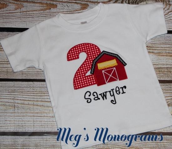 Barnyard Birthday shirt