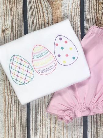 Girls Easter Egg Trio