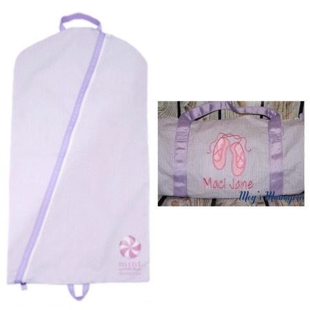 Dance Recital set- Hanging Garment Bag and Duffle-Lilac