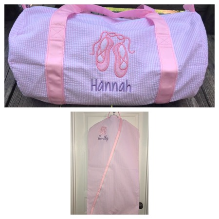 Dance Recital set- Hanging Garment Bag and Duffle-Pink