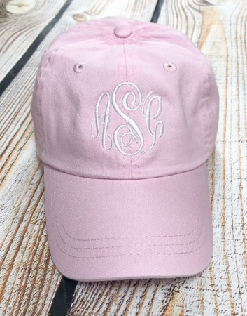 Toddler girls Monogram Hat